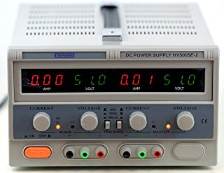Tekpower TP5005E2,Power Supply, 50V at 5A, Dual Output for CC and CV Control with Parallel and Series Connection,Like TP3005D