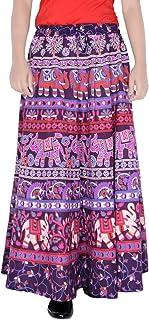 Sttoffa 36 Inch Length Elastic Band Rajasthani Skirt D4