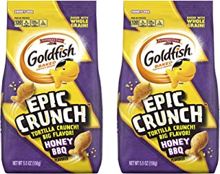 Pepperidge Farm Goldfish New Epic Crunch 5.5oz, 2 Pack (Honey BBQ)
