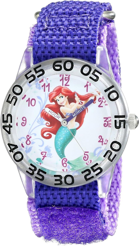 Disney Kids' W001669 Ariel Analog Quartz Purple New popularity Limited time trial price Display W