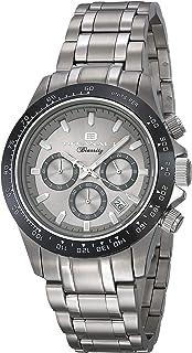 ساعة اوشينت بياريتز للرجال انالوج كوارتز مع سوار من الستانليس ستيل، فضي، 20 (OC6110)