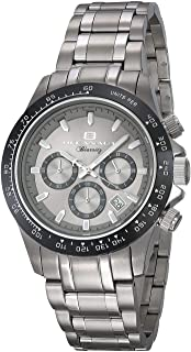 Oceanaut Men's Biarritz Analog-Quartz Watch with Stainless-Steel Strap, Silver, 20 (Model: OC6110)