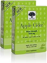 New Nordic Apple Cider Mega Strength, Vegan, Gluten Free, 1000mg, 30 Tablets (Pack of 2)