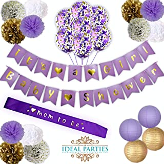 Best lavender baby shower decorations Reviews