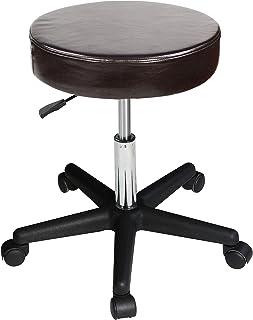 Master Massage Pneumatic/Hydraulic/Beauty/Swivel/Tattoo/Nanoskin Upholstery in Luster Stool, Coffee