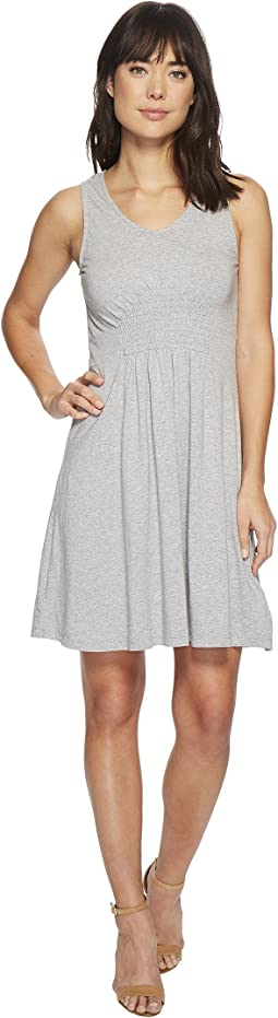 Cotton Modal Spandex Jersey Smocked Front Tank Dress