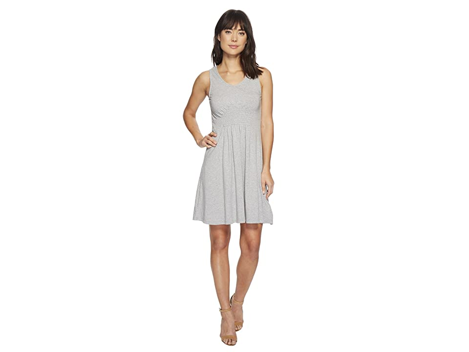 Mod-o-doc Cotton Modal Spandex Jersey Smocked Front Tank Dress (Smoke Heather) Women