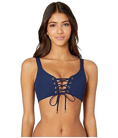 Maaji Dazzling Four-Way Reversible Bikini Top (Ink Blue Rib) Women