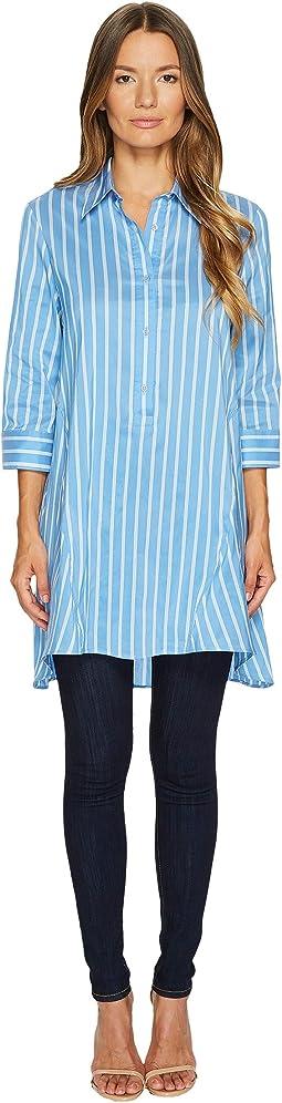 Cotton Silk Stripe Shirt