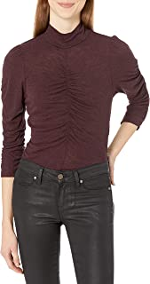 Rebecca Taylor Women's Long Sleeve Turtleneck Rouched Jersey