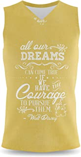 Rainbow Rules Dreams Can Come True Walt Disney Quote Mens Sleeveless Tank Top