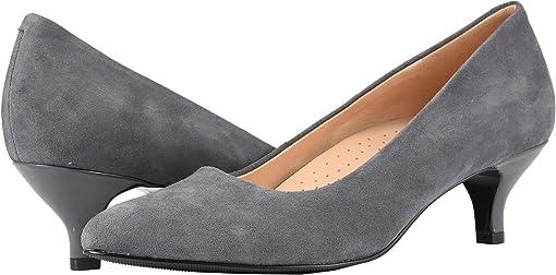 Dark Grey Suede Leather