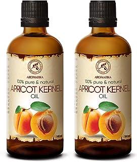 Aceite de Semilla de Albaricoque 2x100ml - Prunus Armeniaca - Italia - Prensado en Frío - 100% Natural y Puro 200ml - Acei...