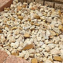 天然石 砕石砂利 1-2cm サンプル(500g) パンプキンイエロー (ガーデニングに最適 黄色砂利)