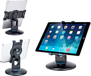 Max Smart Retail Kiosk iPad Stand, 360 Rotating Commercial Tablet Stand, 6 to 13.5 inch iPad Mini Pro Business Tablet Holder, Swivel Design for Store Office Showcase Reception Kitchen Desktop (Black)