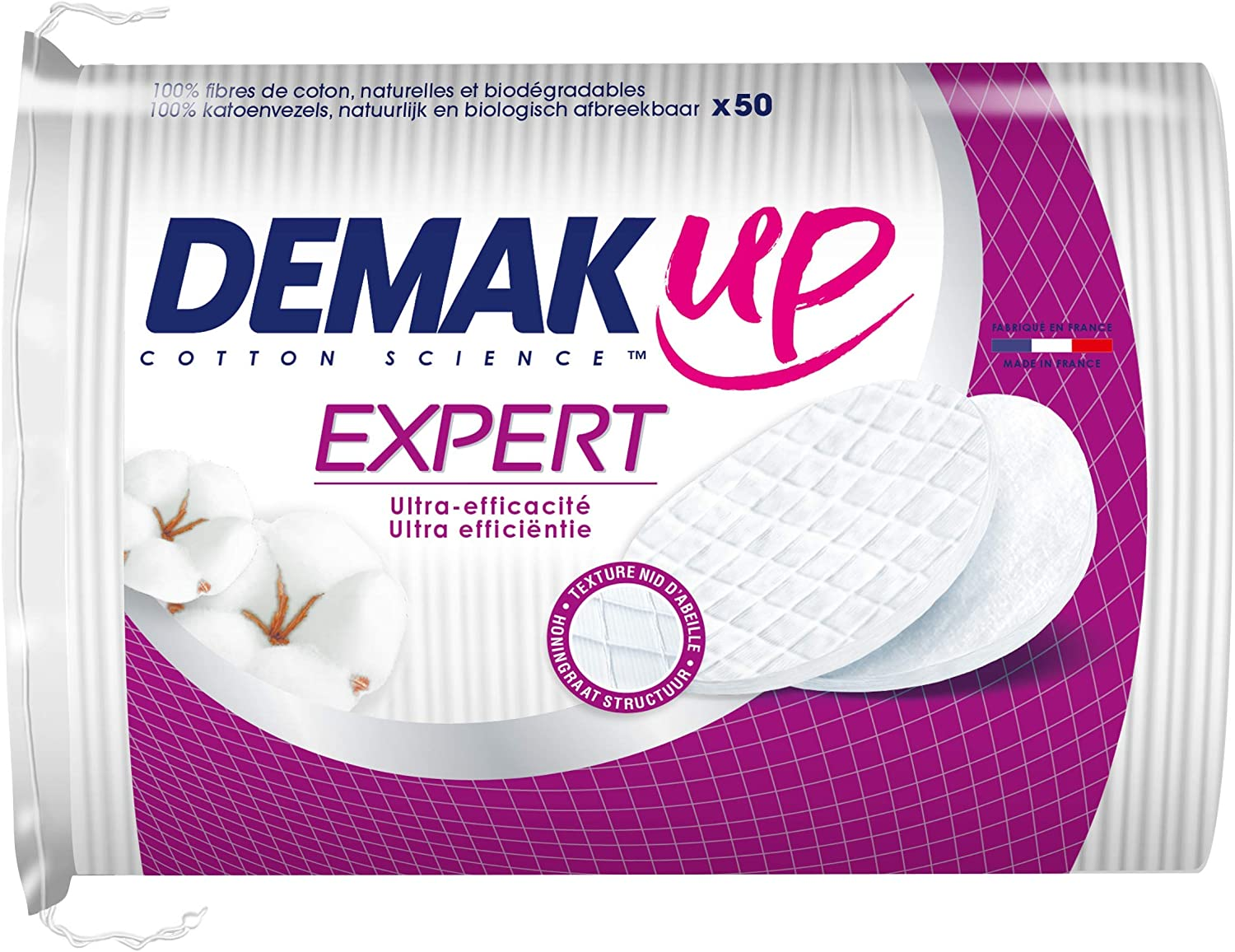 Demak'Up Duo+ - Oval Cotton Pads 4 Make-Up Packs Removing Max 50% OFF for Bombing free shipping o