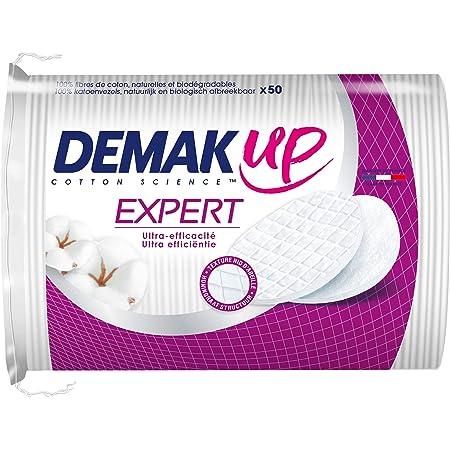 Demak'Up - Lote de 4 paquetes de 50 discos de algodón desmaquillantes