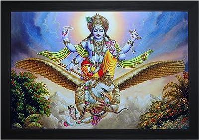SAF Textured Print with UV Framed Reprint Painting (SANFO844, 30 cm x 3 cm x 45 cm) SANFO844