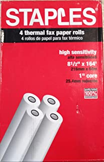 Staples Thermal Fax Paper, 164' roll x 8.5