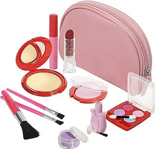 کیت آرایش Pretend ، کیف چوبی و آینه ای چرمی 11 قطعه ای