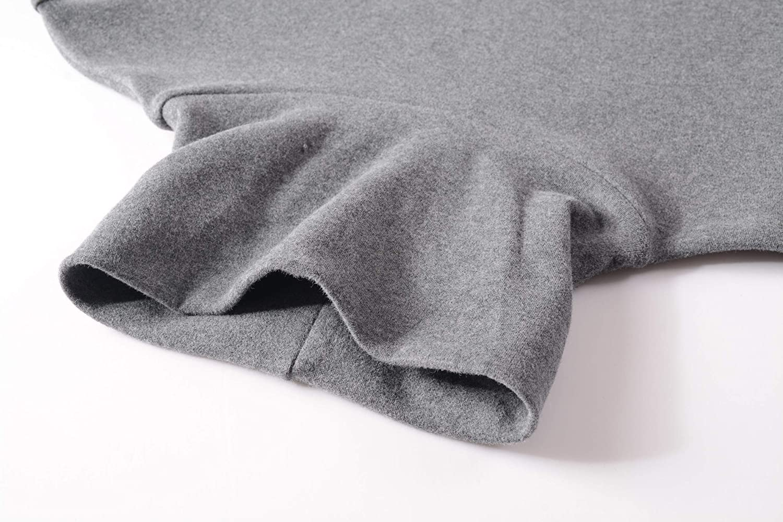 HieasyFit Mens Soft Cotton Turtleneck Tops Basic Layering Thermal Tee