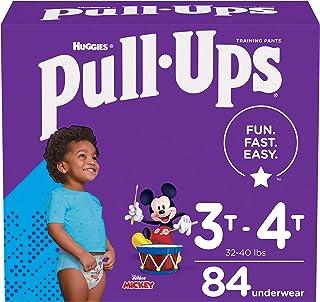Pull-Ups Boys' Potty Training Pants Training Underwear Size 5, 3T-4T, 84 Ct