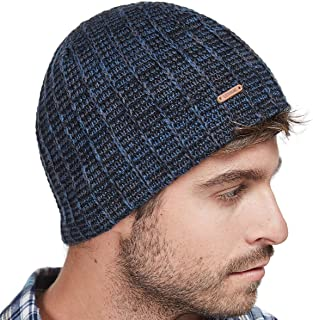 b61592e120c lethmik Knit Skull Beanie Cap Winter Warm Daily Hat With Mix Mesh Knitted