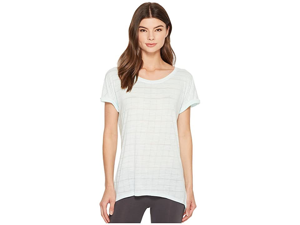 Splendid Studio Split Back Tee (Bleached Aqua) Women