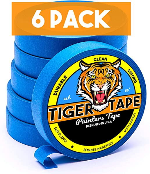 Tiger Tape Painters Tape Painters Tape 1 Inch 6 Pack Of Painters Tape Blue Painters Tape Masking Tape 94 Painters Tape Best Painters TapeBlue Masking Tape Painting Supplies Wall Safe Tape Paint Tape