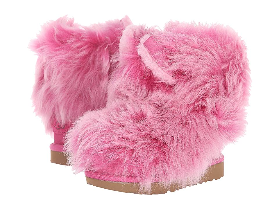 UGG Kids Pinkipuff Classic II (Toddler/Little Kid) (Pink Azalea) Girls Shoes