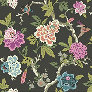 York Wallcoverings Waverly Candid Moment Removable Wallpaper, Blacks