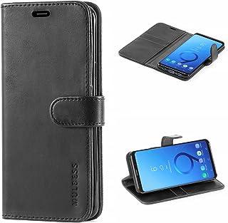Mulbess Cover per Samsung Galaxy S9 Plus, Custodia Pelle con Magnetica per Samsung Galaxy S9 Plus / S9+ [Vinatge Case], Nero