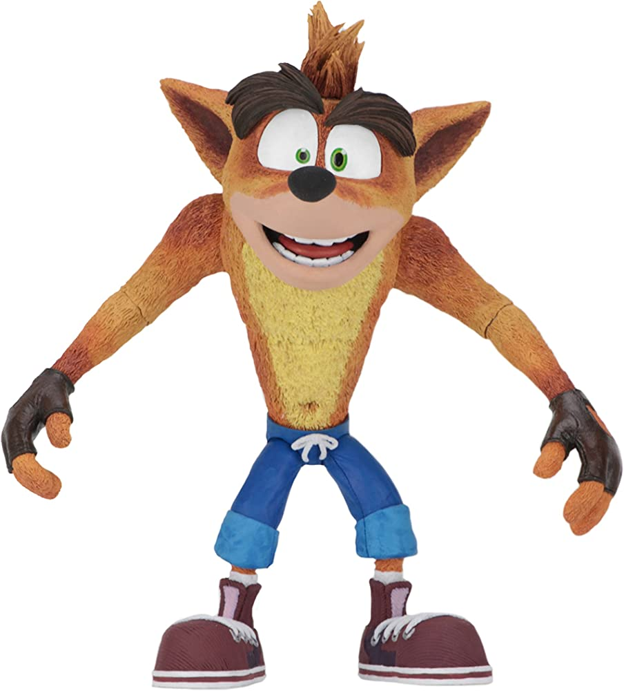 Neca crash bandicoot,  action figur, statua 15cm 41050