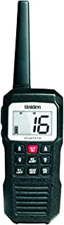 Uniden Atlantis 155 Handheld Two-Way VHF Marine Radio, Floating IPX7 Submersible Waterproof, Dual-Color Screen, All USA/International/Canadian Marine Channels, NOAA Weather Alert, 10 Hour Battery