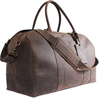 italian leather duffle travel bag