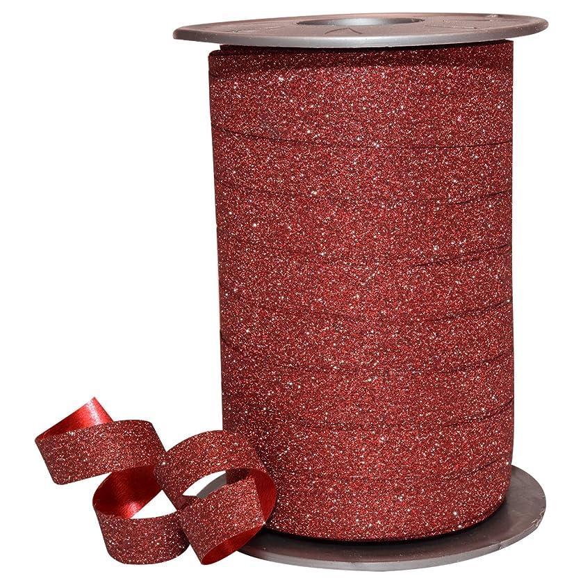 Morex Ribbon 185/9-609 Polyester Glitter Ribbon, 3/8