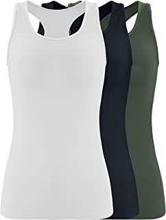Milumia Womens Active Yoga Shirt Sleeveless Vintage Print Gym Tank Top Vest