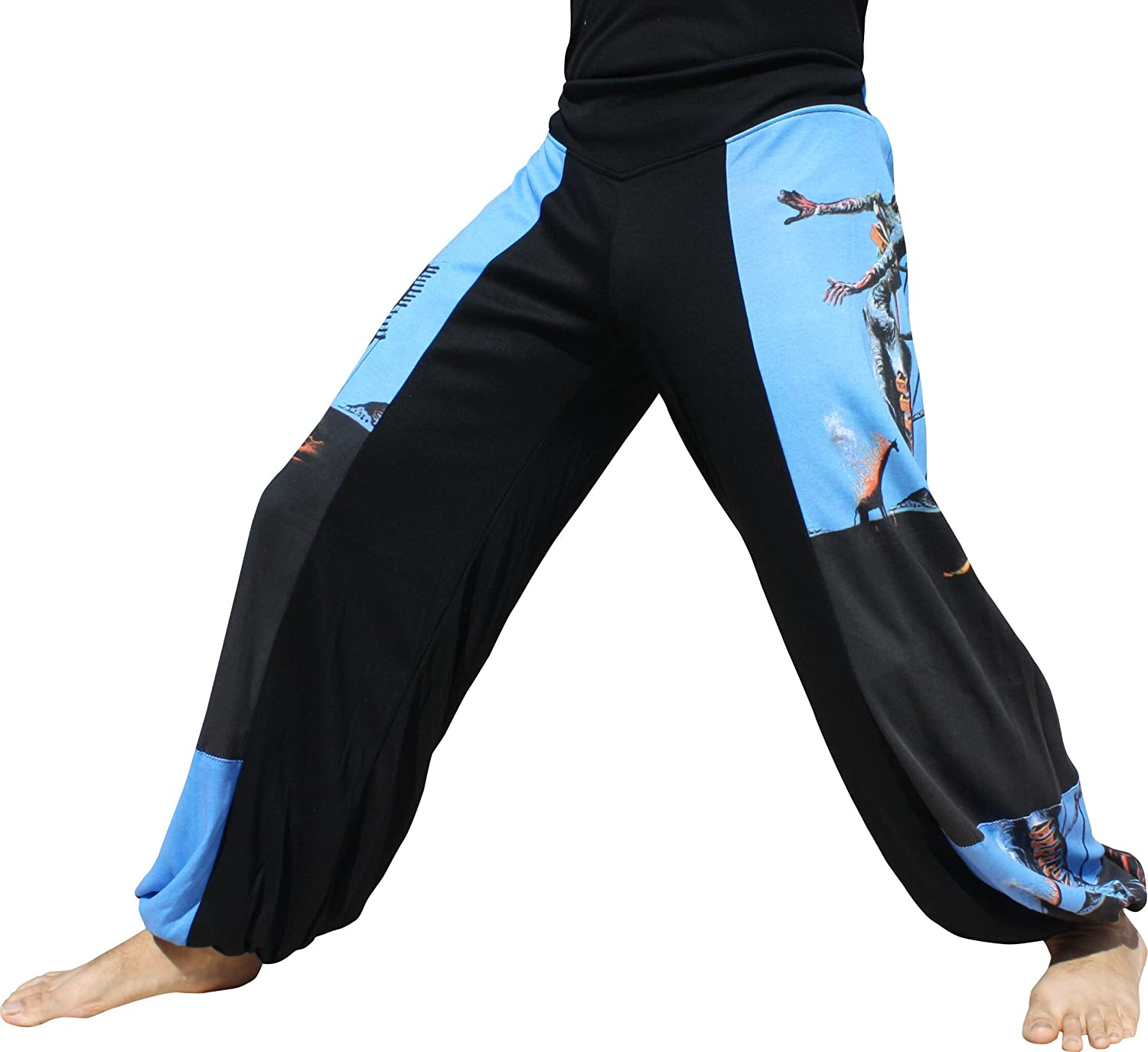 RaanPahMuang Side Patch Billowy Pants Salvadore Dali  Burning Giraffe