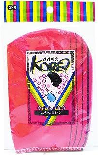 オーエ ボディタオル レッド 約縦18×横13cm 韓国式 あかすり ミトン 角質とり