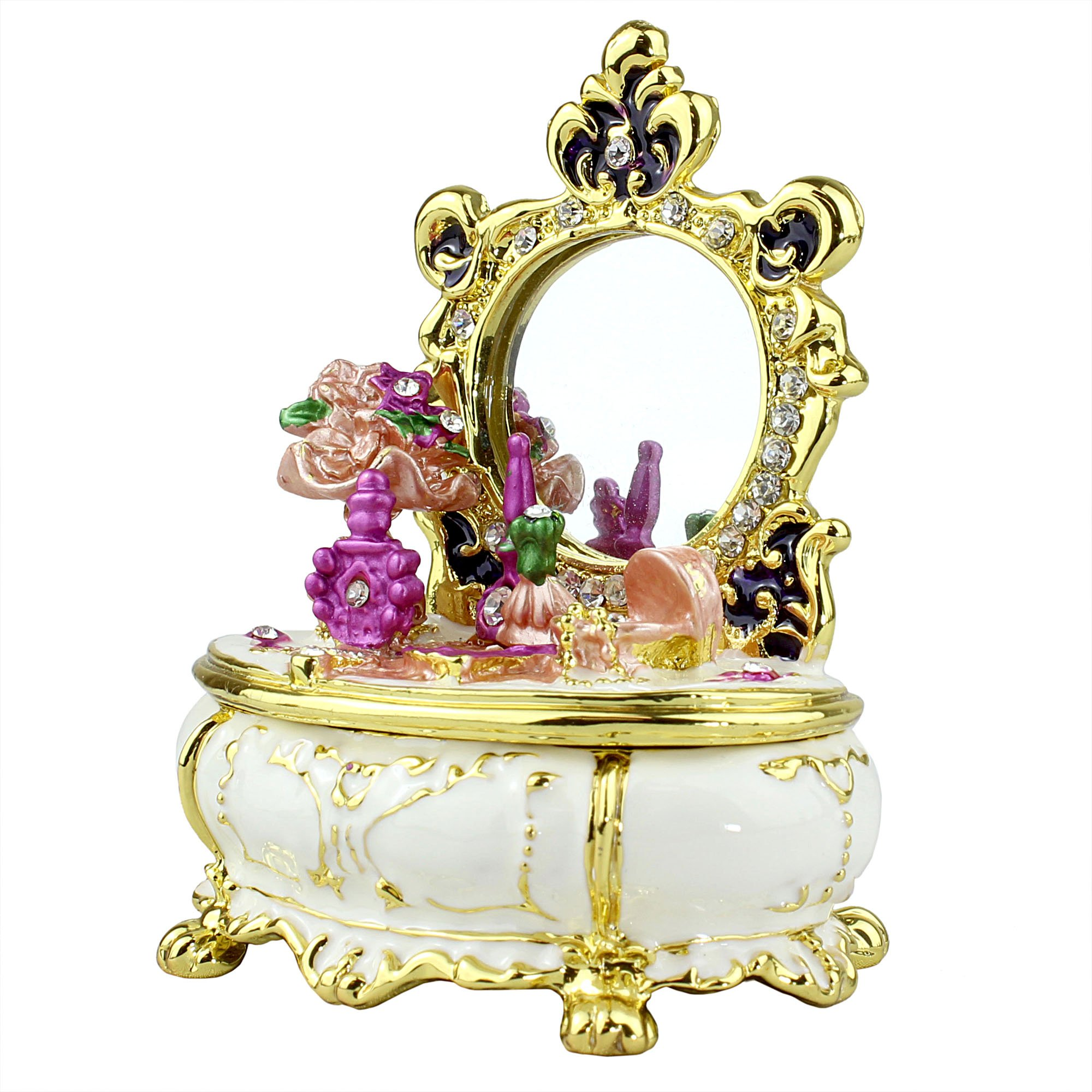 Image of Lovely Ornate Victorian Dresser Trinket Box