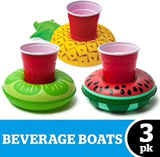 BigMouth Inc. Inflatable Pool Cupholder Floats, 3-Pack