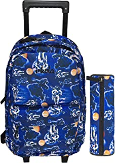 SPACE SCHOOL TROLLEY BAG WITH BACKPACK FOR KIDS INCLUDE PENCIL CASE | 17 INCH