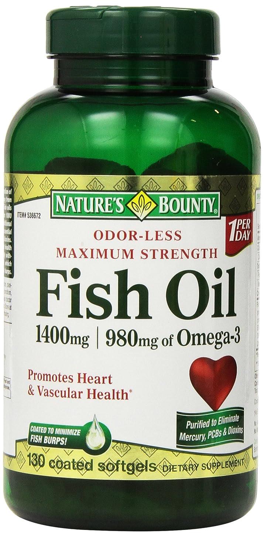 東方詐欺毛布Nature's Bounty Fish Oil 1400 mg 130粒