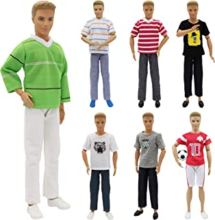 K.T. Fancy 10 Pcs Fashion Casual Wear Clothes Outfit for 12