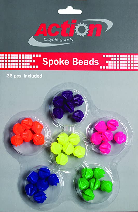 Action Spoke Beads Acclaim 36 Piece Neon Multi Color