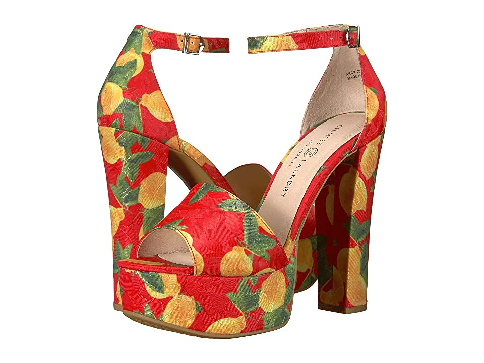 Chinese Laundry Avenue 2 (Red Lemon Print) High Heels