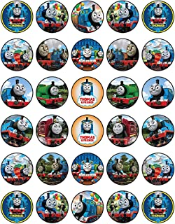 30 x Edible Cupcake Toppers – Thomas The Tank Engine Themed Collection of Edible Cake Decorations | Uncut Edible Prints on Wafer Sheet