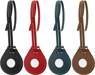 $25 » ORNARTO Leather Case for Bag Charm, 4 Pack PU Leather Bag Finder, Backpack Tracker, Suitcase Finder Case Compatible with A...