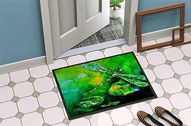 "Caroline's Treasures Dragonfly Summer Flies Indoor or Outdoor Doormat, 18"" x 27"", Multicolor"