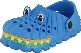 Yellow Bee Cute Clogs for Boys, Blue